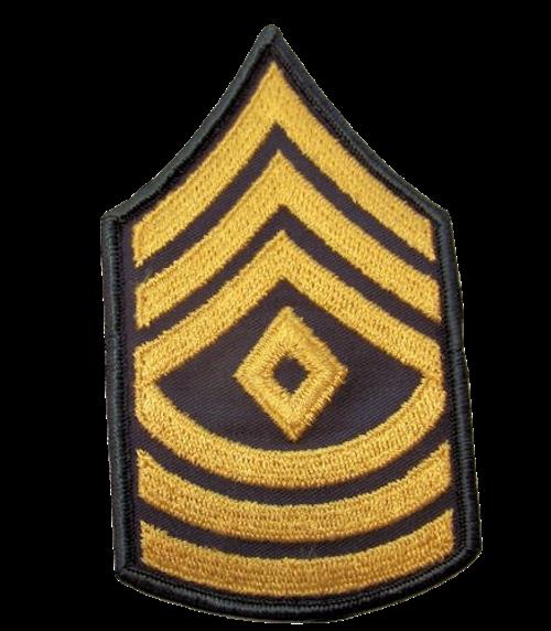 E-8 1SG Male GOLD on GREEN CHEVRONS