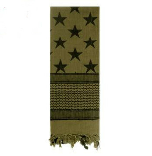 Shemagh Tactical Desert Scarf Olive Drab Subdued Flag