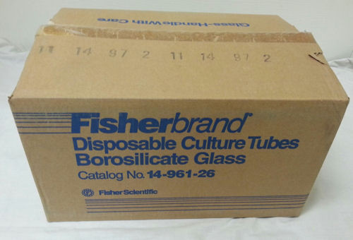 FISHERBRAND DISPOSABLE BOROSILICATE GLASS TUBES