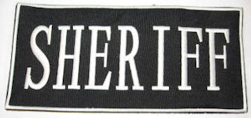 Sheriff 2-Piece Law Enforcement Patch Small White Letters