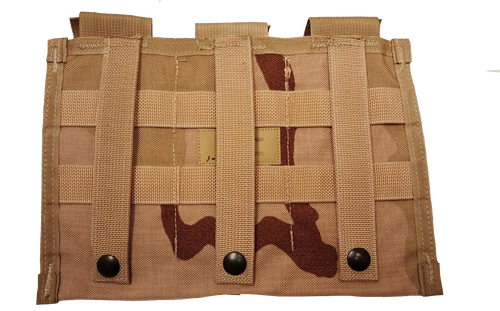 Military Issue  MOLLE 3 Triple MAG M4  30 Round Pouch 3 Color Desert