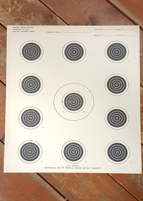 Military Issue Small Bore Rifle Target Case of 500