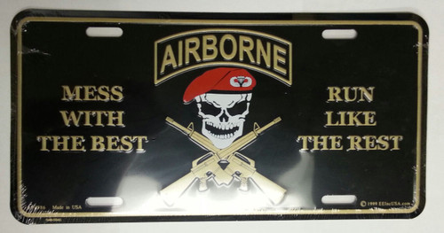 Airborne License Plate
