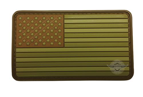 MORALE PVC  PATCH - U.S. FLAG SUBDUED FLAG MULTI 6799