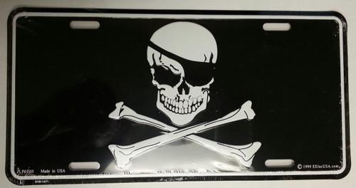 Skull & Cross Bones License Plate