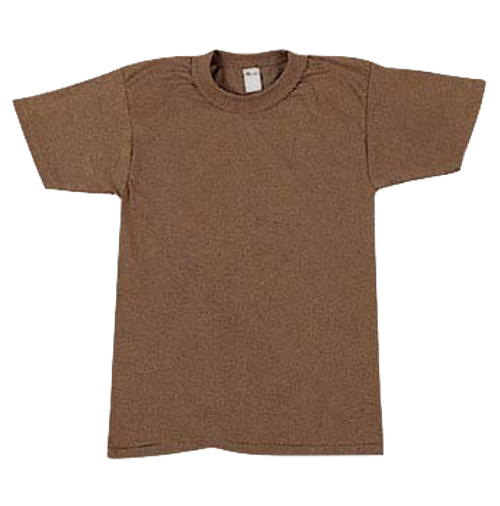 Military Issue Brown T-Shirt (Undershirt)3 Pack Size XL