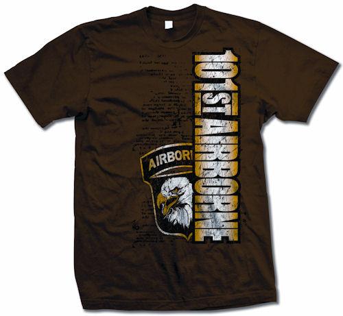Zero 6 101st Airborne Patch T-Shirt Brown