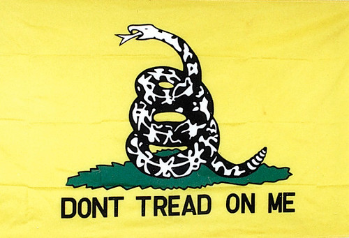 Embroidered Gadsen Flag 3' x 5'