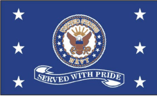 Navy Served with Pride Flag