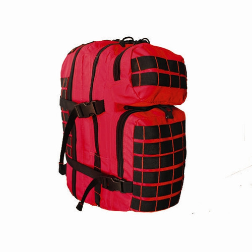 Red Rock Outdoor Gear Rebel Assault Pack Red with Black Stitching