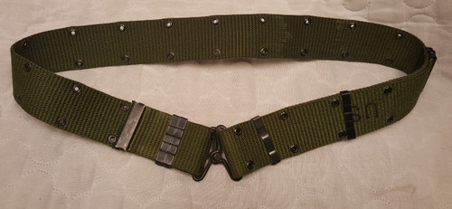GI Issue Pistol Belt Old Style Used Good Size Medium