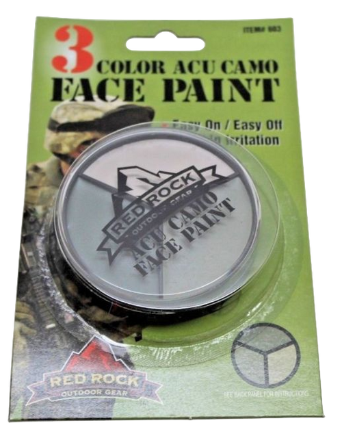 Red Rock 3 Color ACU Face Paint # 603