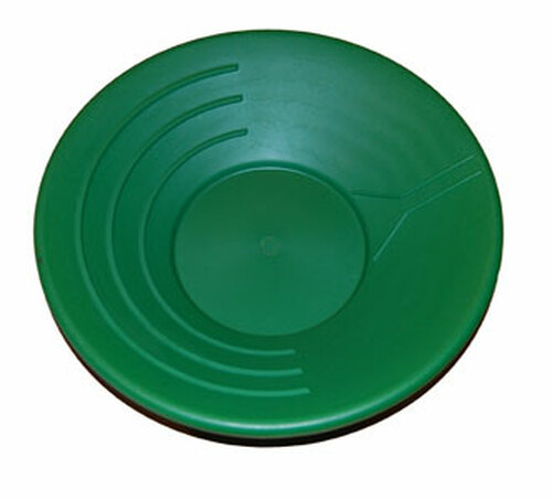 "Gold Pan 10"" - GREEN PLASTIC"