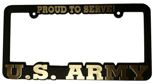 Plastic License Plate Frame Army