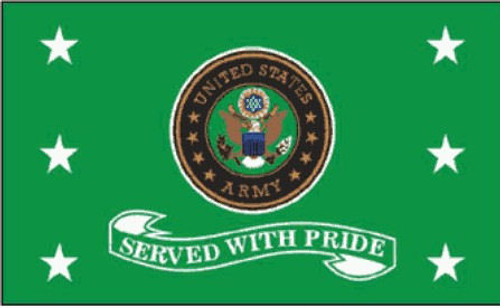 Army Served with Pride Flag