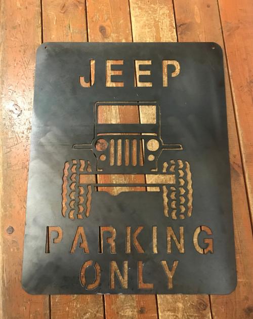 Jeep Parking Metal Art Plasma Cut Sign