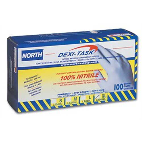 LA049INDM Dexi-Task Exam and Industrial Grade Nitrile Disposables Gloves Size Medium