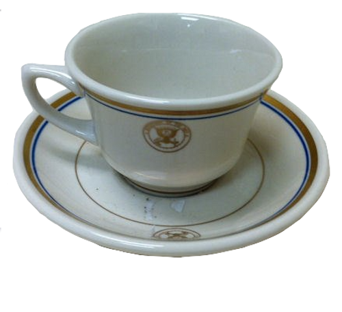 CHINA NAVY CUP AND SAUCER