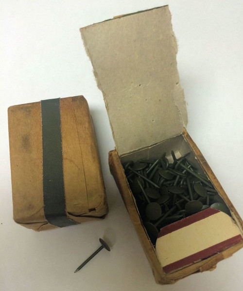 WWII Military Issue Tacks Box of 100