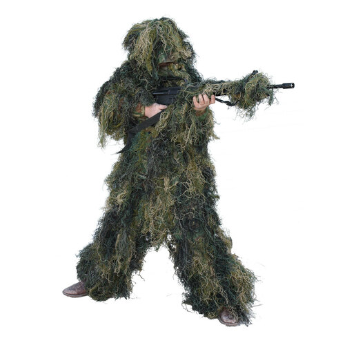 Youth Woodland Ghillie Suit 5 piece