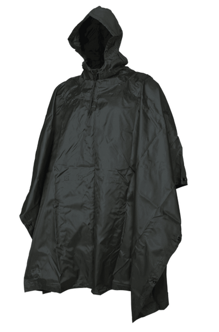 5ive Star Gear GI Spec Black Rip Stop Nylon Poncho 3101