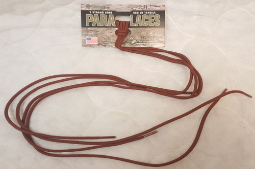 7 Strand Core 550 lb tensile Para Laces Brown