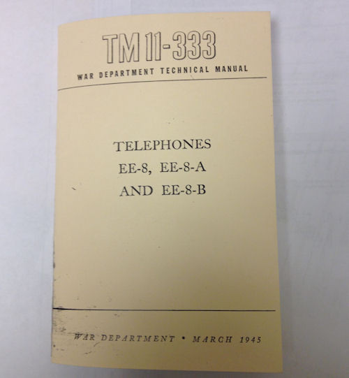 REPRINT Telephones TM11-333 Manual