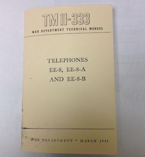 REPRINT Telephones TM11-333 Manual