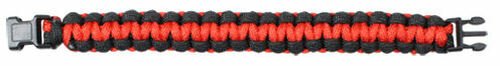PARACORD BRACELET - RED AND BLACK
