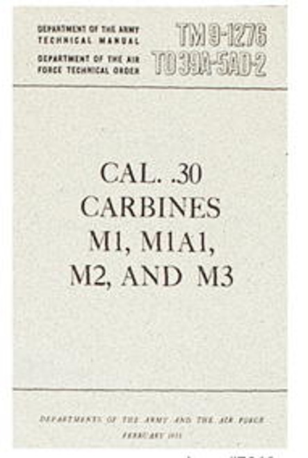 30 CAL CARBINES M1-M2 MANUAL / BK095