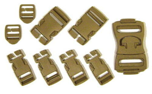 MOLLE 9-Piece Khaki Buckle  Repair Set