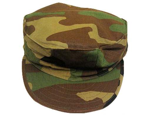 US Govt Issue 8 Point Marine Cap Woodland Camo Size X-Large - Army ... af6772c808eb