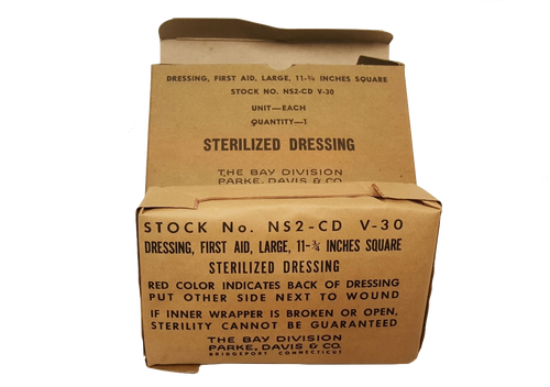 Military Issue Sterilized Dressing Large