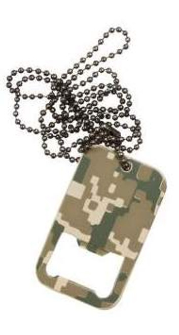 DOG TAG BOTTLE OPENER W/CHAIN - ACU DIGITAL CAMO