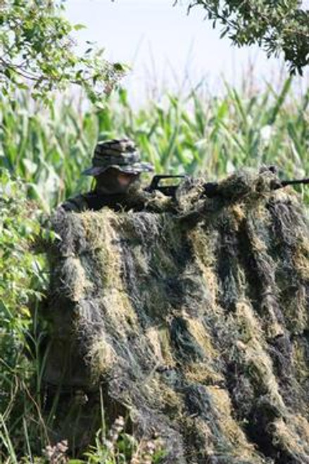 Red Rock Ghillie Blanket 5 x 12 - WOODLAND Camouflage