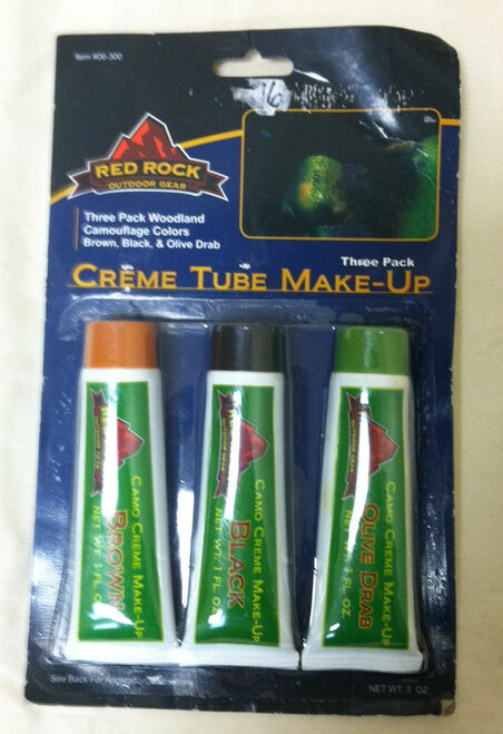Red Rock Outdoor Gear Creme Tube Make-up Woodland Three Pack