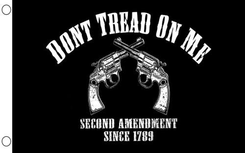 Don't Tread on Me 2nd Amendment Pistols Crossing Flag