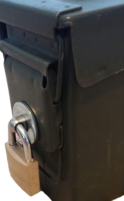 Ammo Box Can Lock Hardware (2nd Gen) fits all 50 Cal 30 Cal 20 mm 40 mm
