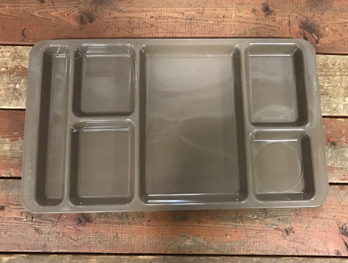 Plastic Food Tray Coyote Tan