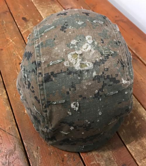 Reversible Helmet cover Marine Corps Marpat Woodland Digital/ Desert Digital USED