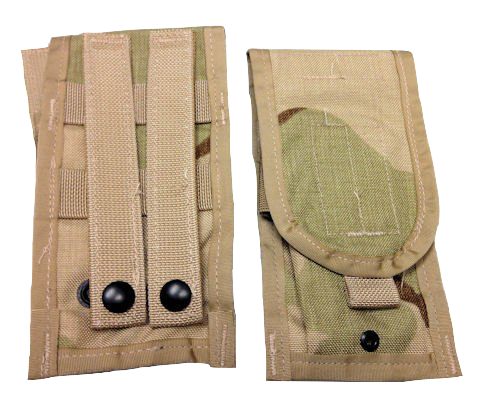 MOLLE II DOUBLE MAG M4 POUCH  3 COLOR DESERT 2 PACK