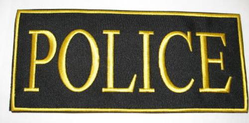 Police 2-Piece Law Enforcement Patch Gold