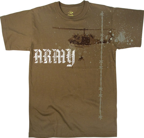 Brown Army Helicopter T-Shirt