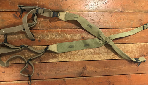 Original WWII M36 Webbing Combat Suspenders