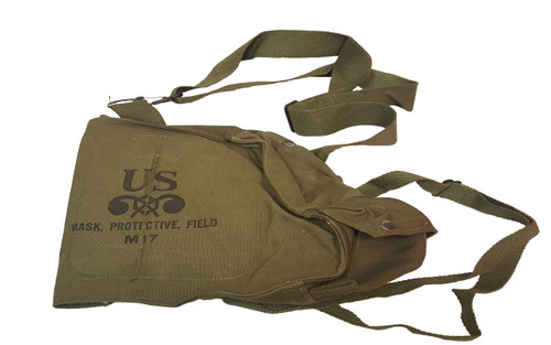 Genuine Military Issue M17 Canvas Gas Mask Bag 1