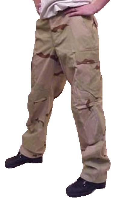 3-Color Desert BDU Small Regular Pants