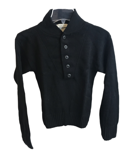 Black 5 Button Sweater Youth Sizes