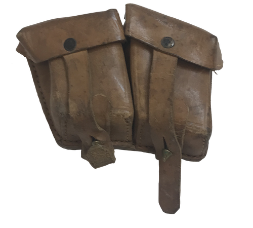 Yugoslavian Mauser Two Pocket Leather Pouch