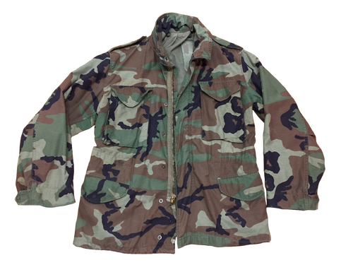 Military Issue M65 Woodland Field Jacket Used Good - Army Surplus ... 0ae8c94a452