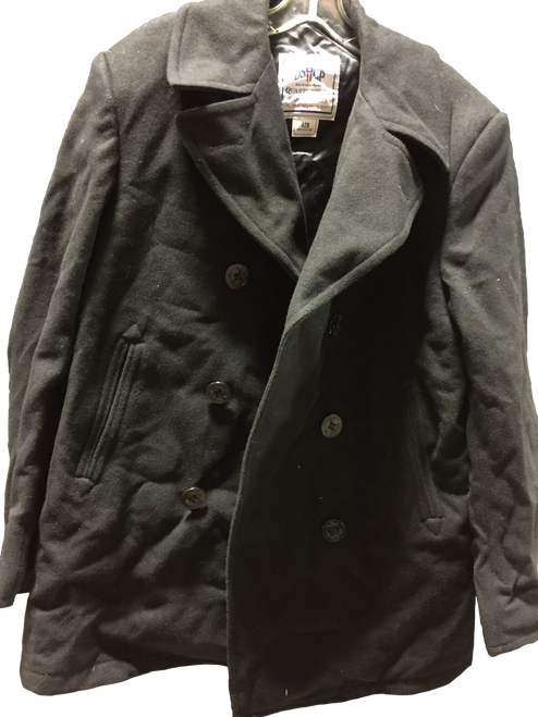 US Military Navy Wool P-Coat Size 42R
